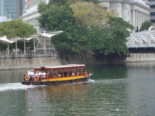 Boat ride at Clark Quay, Singapore