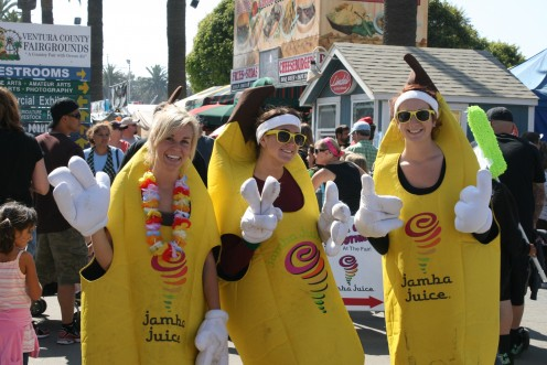 Jamba Juice sponsors a good cause as well as they are providing nutritional beverages during the Fair.