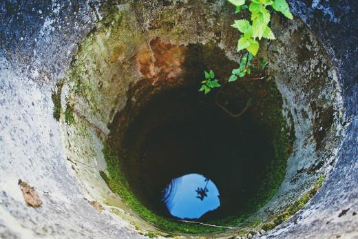An old hand dug water well.
