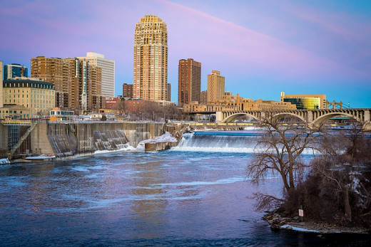 Minneapolis from the Stone Arch Bridge