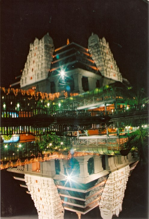 TEmple at night- on Krishna janmashtami(birthday of Lord Krishna)