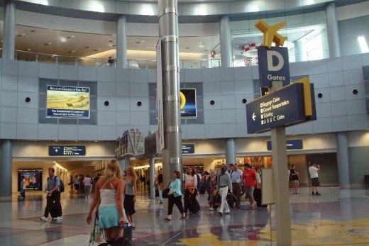 Inside the terminal of McCarran International Airport