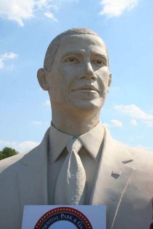 President Barack Obama bust created by Sculptor David Adicks of Huntsville, Texas