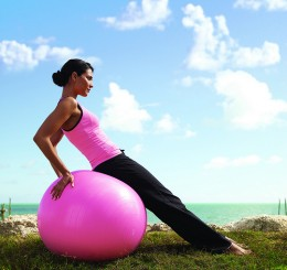 Use an exercise ball