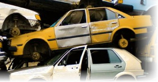 salvage yards in michigan stacked cars