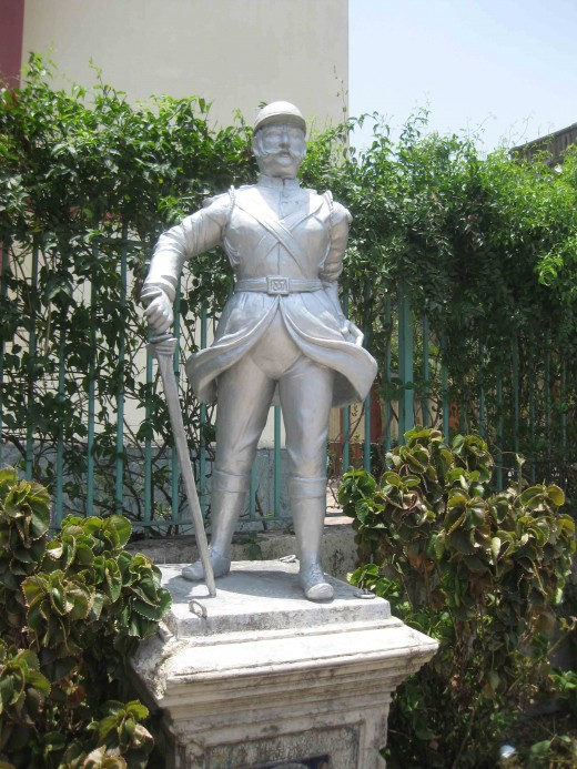 Armed guard-Teracota statue in Parasnath Jain temple, Kolkata