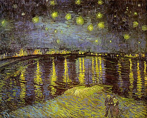 Vincent Van Gogh Starry Lights over Rhone