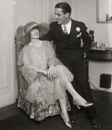 With first wife, Helen Mencken, 1926