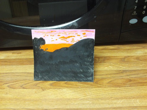 A sunset card created from an a picture of an African sunset.