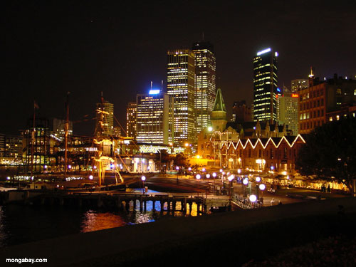 Circular Quay, Sydney, NSW, Australia. After dark