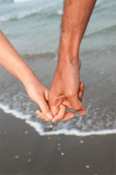 our hands entwined...