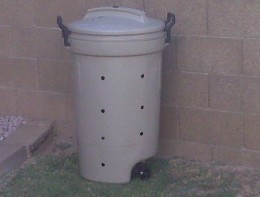 Home made trash can composting bin