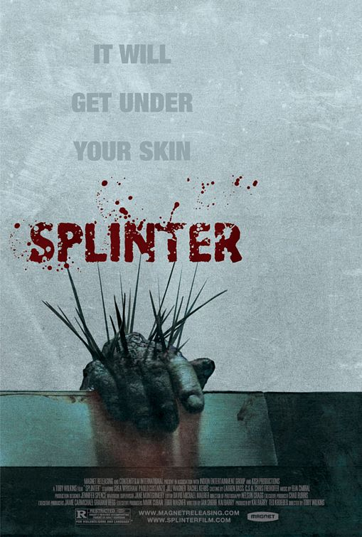 Splinter A Damn Fine Horror Film brings back warm infected memories of John Carpenter's The Thing. Horror movie review.