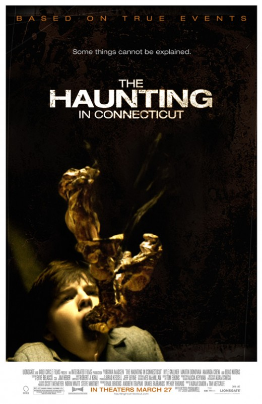 Haunting in connecticut. the picture is supposed to be the ghosts ectoplasm, but it sorta looks like a turd.