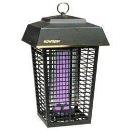 A non-nighttime shot of a bug zapper.  You can still see the blacklight.  Photo by http://www.flickr.com/photos/38982214@N08/3590890536/