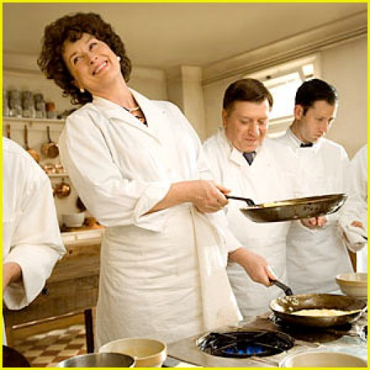 Meryl Streep as a very convincing Julia Child