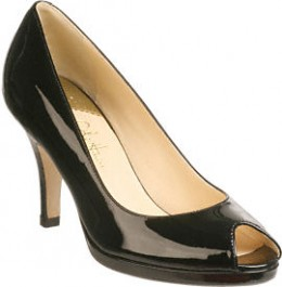 Cole Haan Carma OT Air Pump (Black Patent Leather)