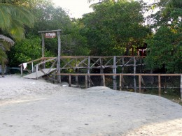 Bridge over the lagoon leading to El Manglar