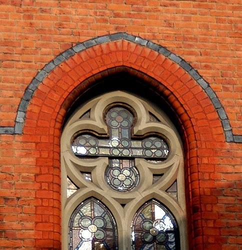 A beautiful example of a quatrefoil window from a church in Chiswick, England