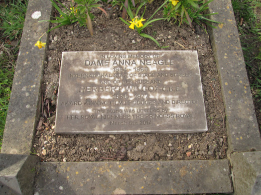 Dame Anna Neagle, born in Forest Gate - across Wanstead Flatts from the cemetery, star of stage and screen.-  There's a part of a modern estate near where I live named after her. She rests with husband, film producer and director Herbert Wilcox