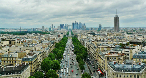 A city view of Paris, France the setting for the episode In Seine.