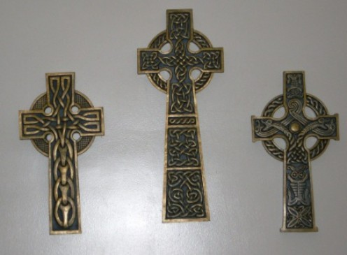 Celtic crosses with the never-ending weave of continuity