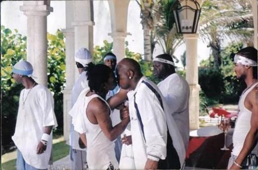 Lil Wayne kissing Baby
