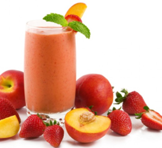 Strawberry-Peach Smoothie