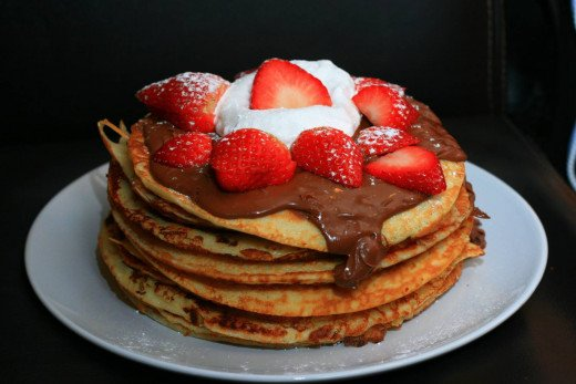 Pancakes can be used to create sweet and savoury snacks.