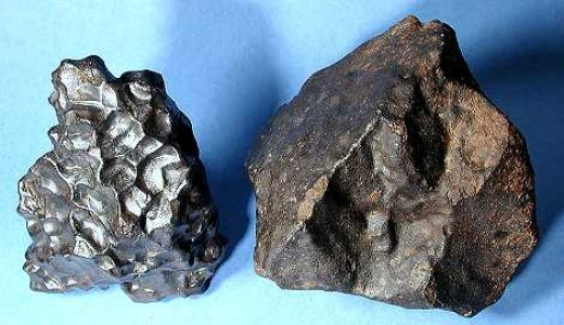 Two examples of meteorites