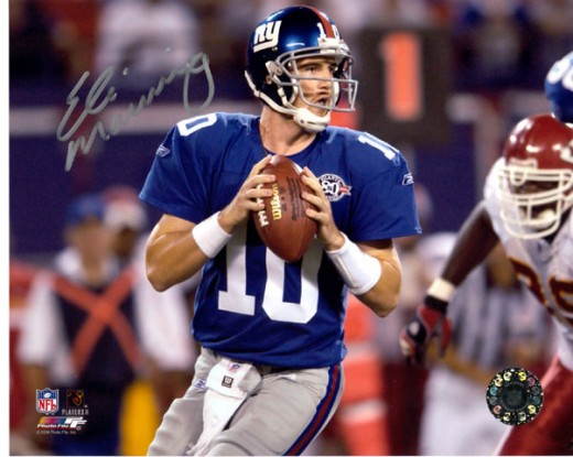 Eli Manning, Franchise Quarterback of the New York Giants