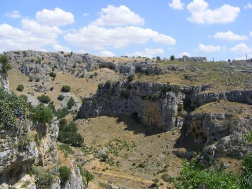 The ravine of Matera