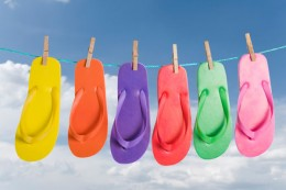 Flip flops are available in every color of the rainbow!
