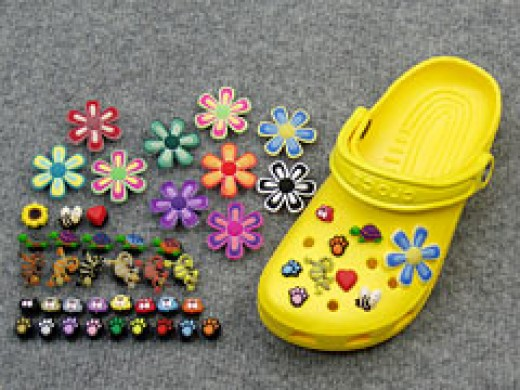 There is no end to the exciting and decorative accessories to fill up all of your clog's holes!