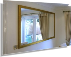 Large mirrors can have the effect of adding another window to a room