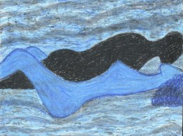Oil Pastel, Romantic Art and Nude Art By Injete Chesoni: Sea of Ecstasy
