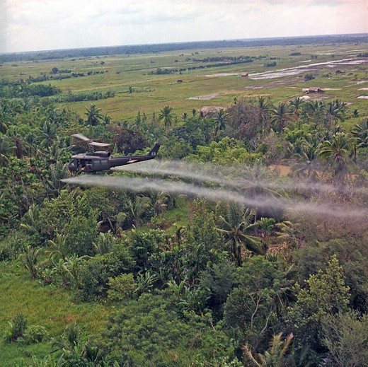 Agent Orange used in the Vietnam war