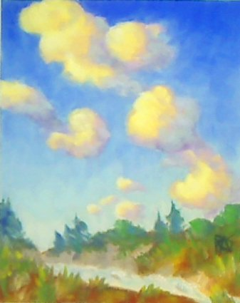 "Clouds, 9"" x 12"" Pan Pastels on Wallis sanded pastel paper, by Robert A. Sloan"