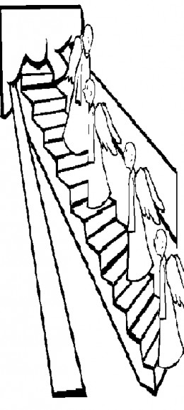 Jacobs Ladder Bible Coloring Pages