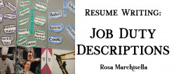 Resume Writing: How to Write Job Duty Descriptions