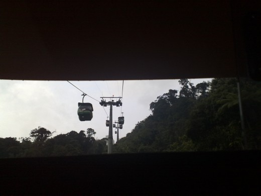 A view of other cable cars