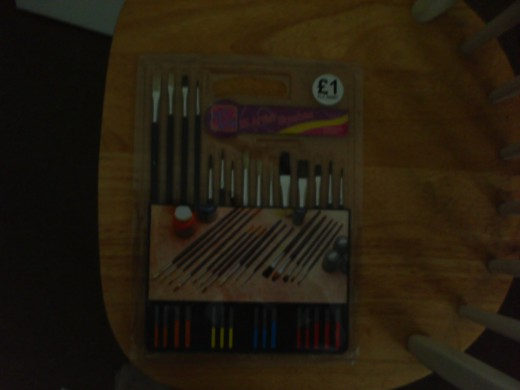 £1 paintbrushes cheap art brushes.