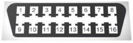 Standard Plug for Diagnostic OBD2 Scanner or OBD2 Code Reader