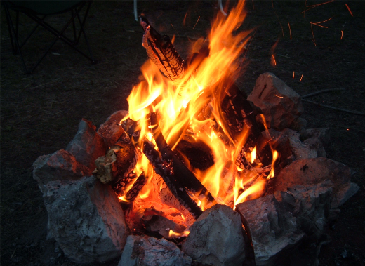 Open fire was the first method used for cooking food.