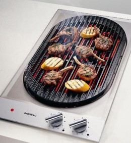 An electric BBQ is ideal for grilling indoors.