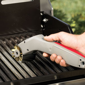 This neat electric grill brush makes clean up a breeze!