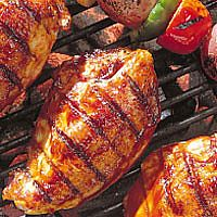 This mouth watering chicken is best served with a salad made of fresh, local produce!