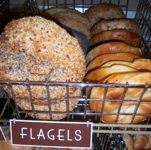 Have you seen a Flagel? That is just a flat Bagel. Great for a sandwich.