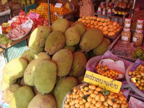 A Jackfruit Stand in Thailand