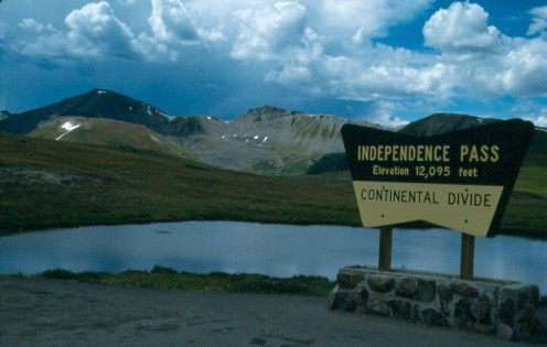 The top of Independence Pass which crosses the Continental Divide in the Sawatch Range located in White River National Forest.